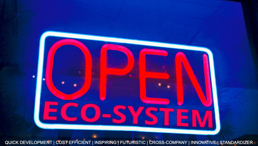 Open Eco-System als Neonlicht Installation