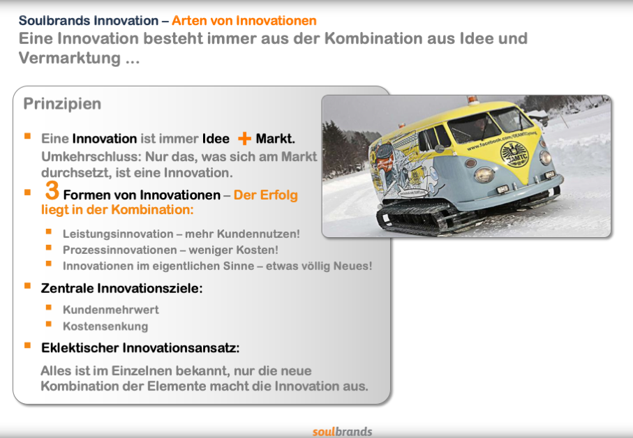 Ziele und Formen von Innovationen.