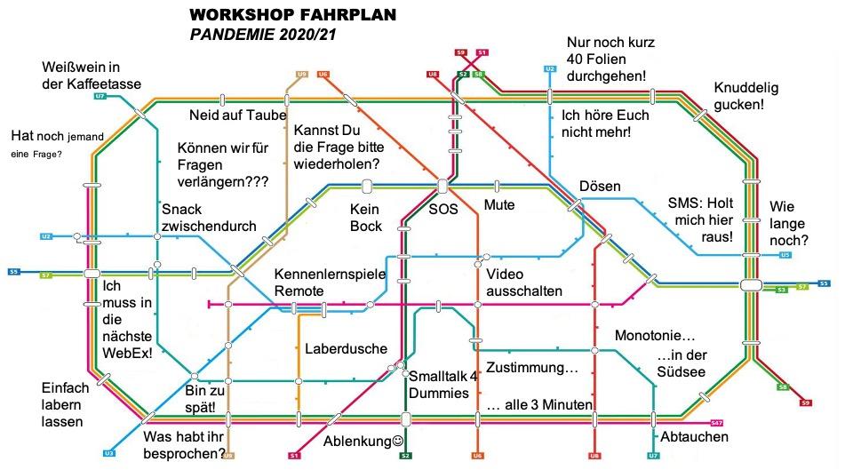 Fahrplan der Linie agile Hilfe