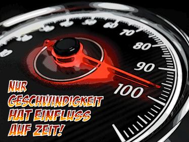 Bildliche Darstellung von Geschwindigkeit.